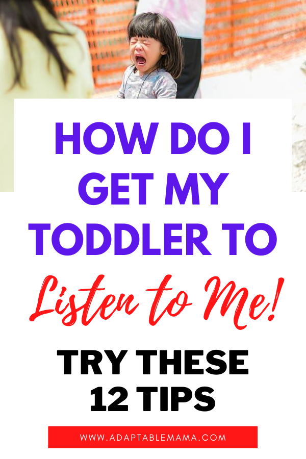 toddler not listening